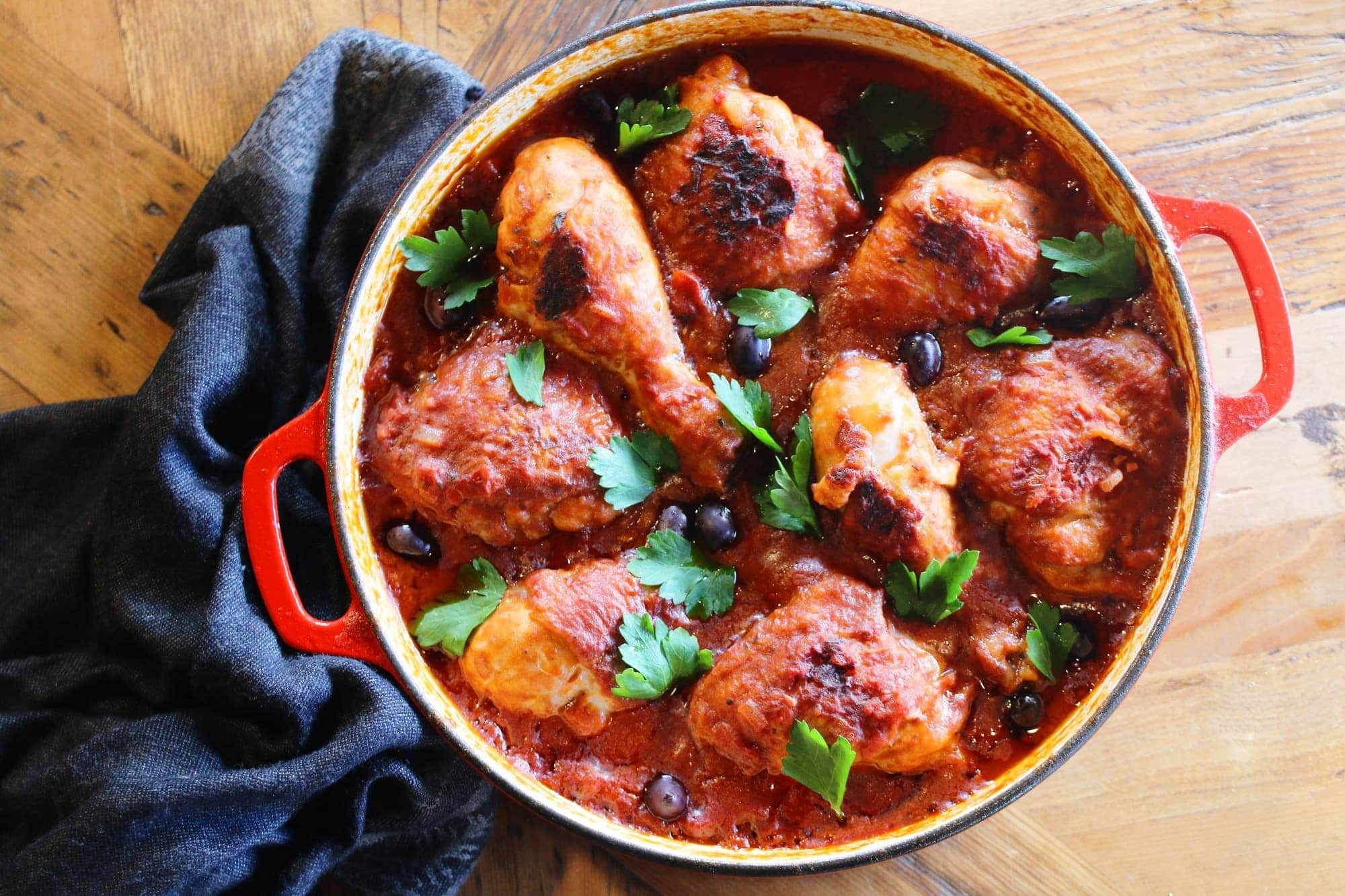 This authentic Italian chicken cacciatore recipe is absolutely delicious.