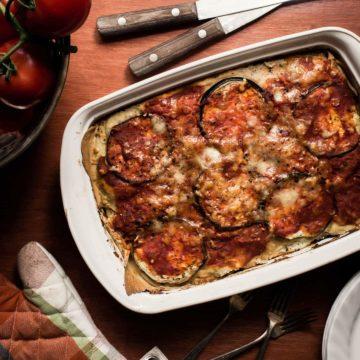 Eggplant Lasagna recipe with herb