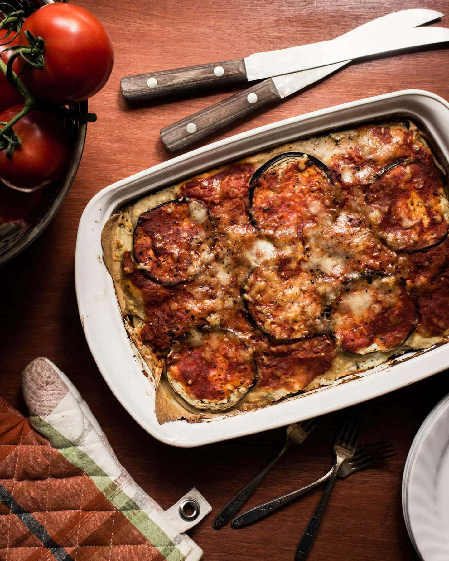 Eggplant Lasagna recipe with herb