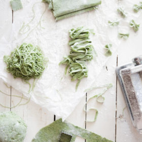 homemaking pasta recipe with spinach