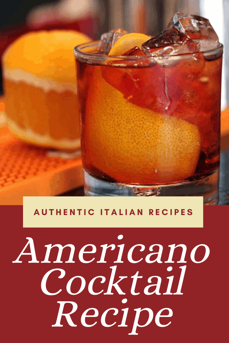 Prepare and serve this Americano cocktail in just 5 minutes with this recipe! #americano #cocktail #aperitif #italian