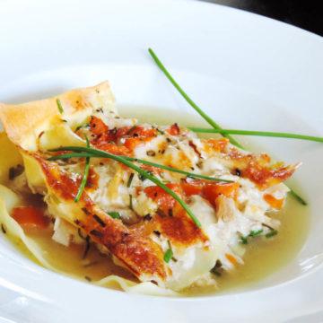 Baked Lasagne in broth recipe - Lasagne in brodo alla Molisana