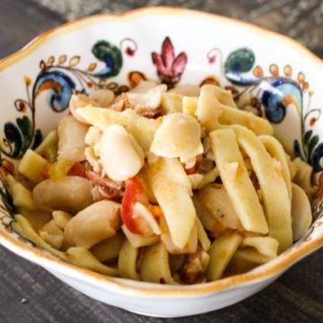 Sagne e fagioli recipe
