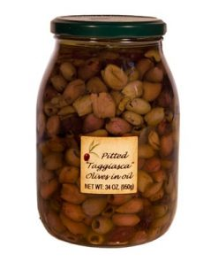 Taggiasca Olives (Pitted) in Olive Oil: Bulk