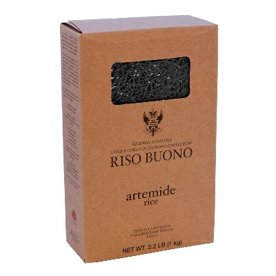Artemide Black, Long Grain Rice by Riso Buono: Box