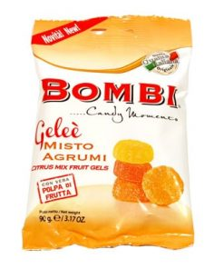 Assorted Natural Fruit Gels by Bombi: Citrus