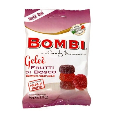 Assorted Natural Fruit Gels by Bombi: Berry