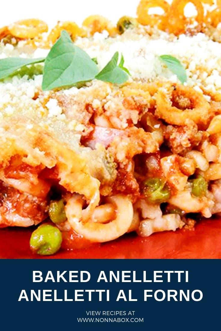 Baked Anelletti Recipe – Anelletti al Forno – Timballo di Anelletti