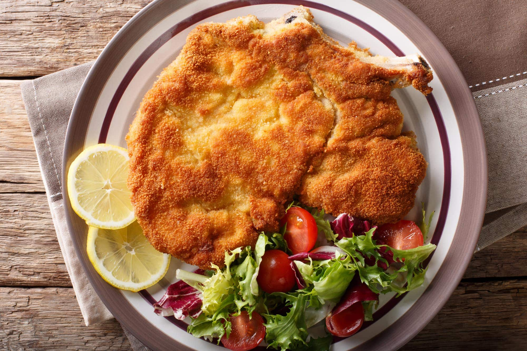 Authentic Veal milanese (cotoletta alla milanese)