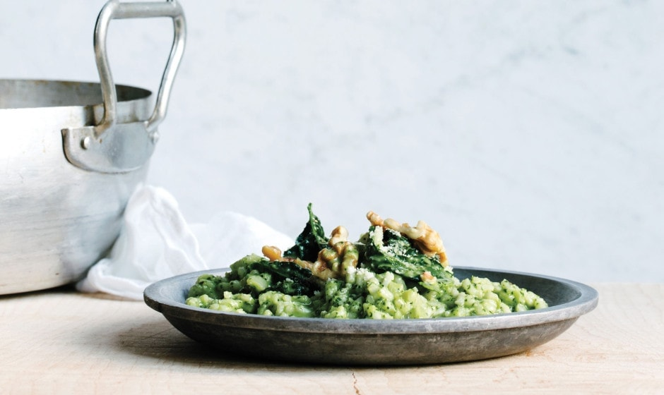 Baked Risotto with Kale recipe