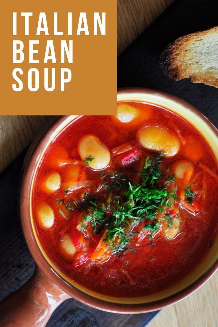Italian Bean Soup Recipe [Zuppa di Fagioli con Crostino]