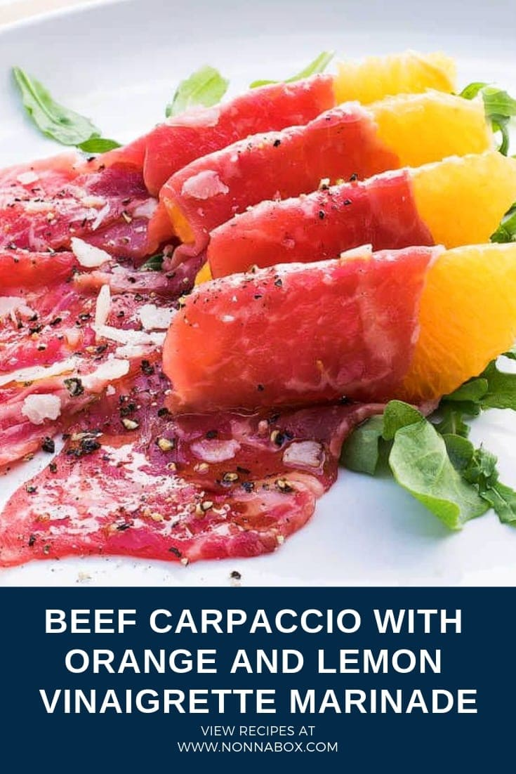 Beef Carpaccio Recipe With Orange and Lemon Vinaigrette Marinade