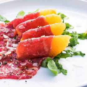 Beef Carpaccio with Orange and Lemon Vinaigrette