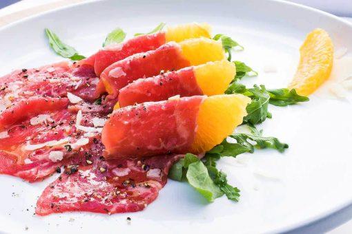 Beef Carpaccio with Orange and Lemon Vinaigrette