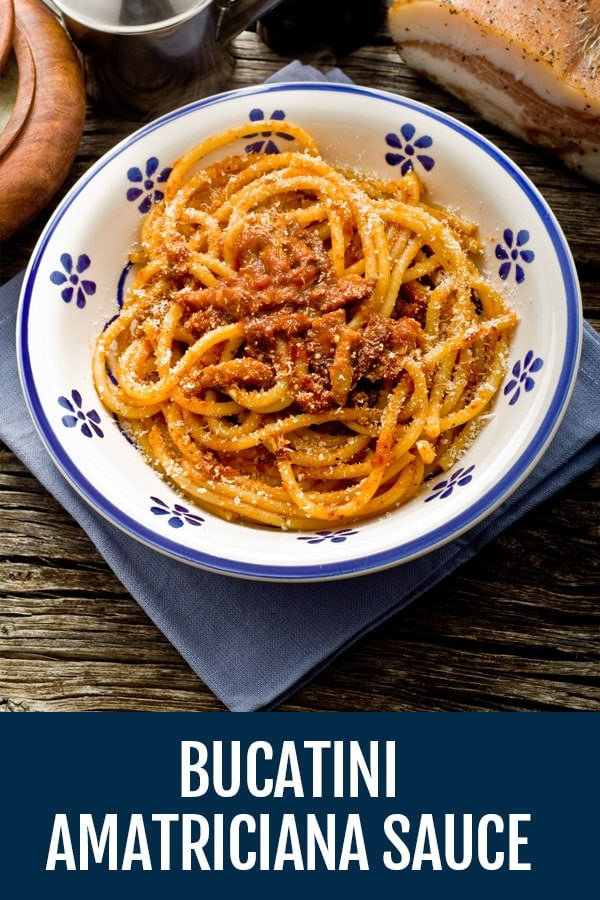 Bucatini all Amatriciana Sauce Recipe – The Real Deal