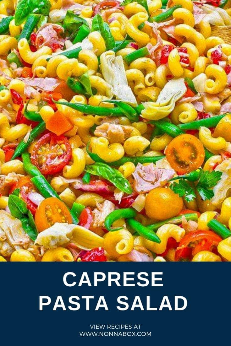 Caprese Pasta Salad Recipe – The Flavours of Capri in a dish!