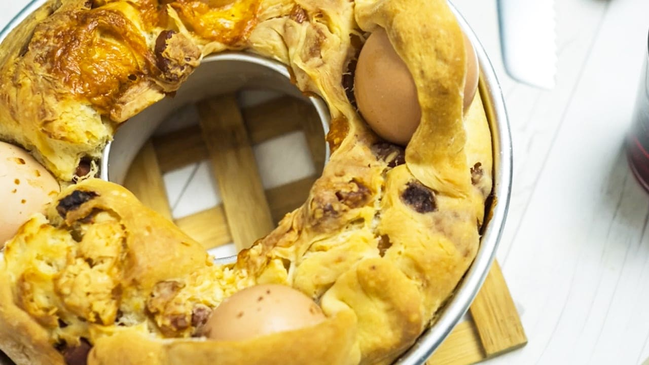 Stuffed Easter Bread Recipe from Naples