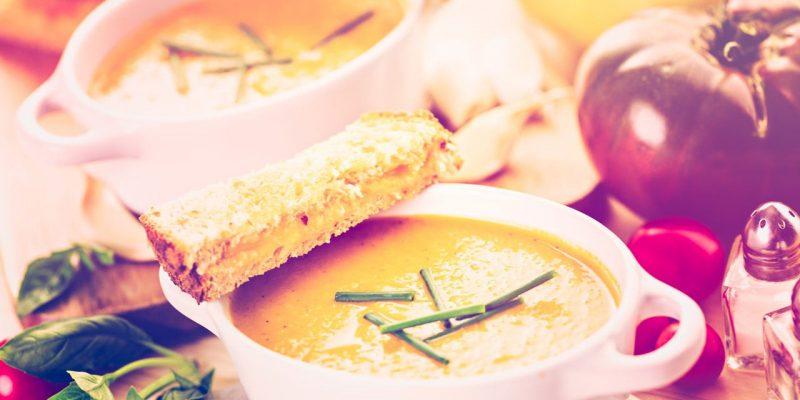 Chilled Roasted Italian Tomato Soup Recipe