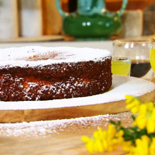 Chocolate Almond Limoncello Cake Recipe