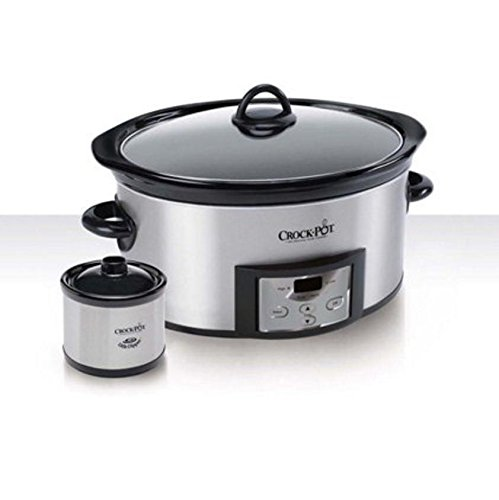 Crock-Pot 6-Quart Countdown Programmable Oval Slow Cooker with Dipper