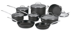 CUISINART 66-14 CHEF'S CLASSIC NONSTICK HARD-ANODIZED 14-PIECE