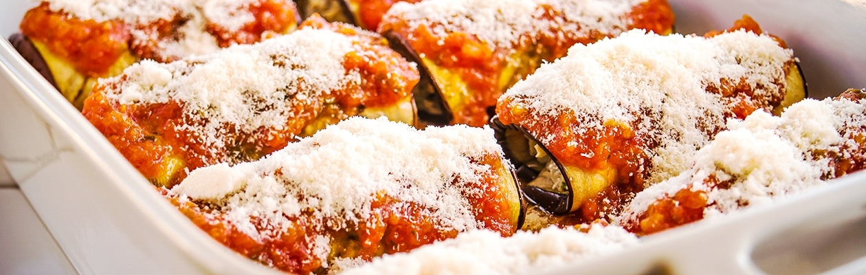 Eggplant Cannelloni close up