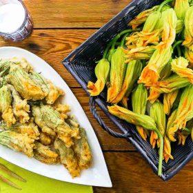 Fried Zucchini Blossoms Recipe