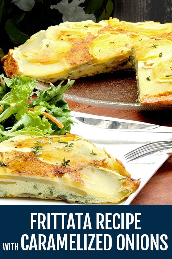 Frittata Recipe with Caramelized Onions and Potatoes – How To Make a Frittata