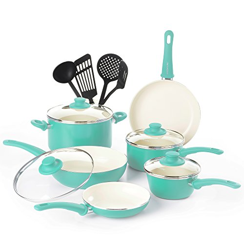 GreenLife Soft Grip Ceramic Non Stick Cookware Set