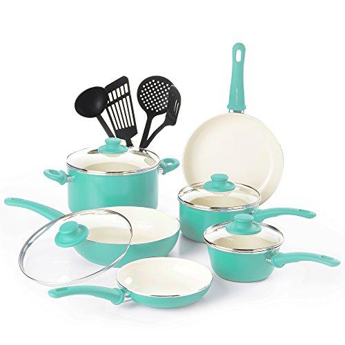 GreenLife Soft Grip Ceramic Non Stick Cookware Set