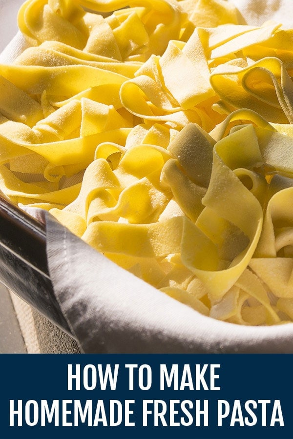 How to Make Homemade Fresh Pasta Recipe From Scratch