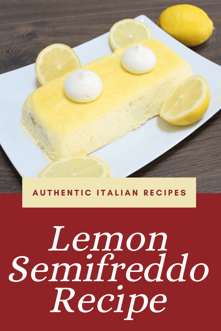 Make a perfect lemon semifreddo that tastes as if it came straight from an Italian restaurant with these simple steps! #lemon #semifreddo #dessert