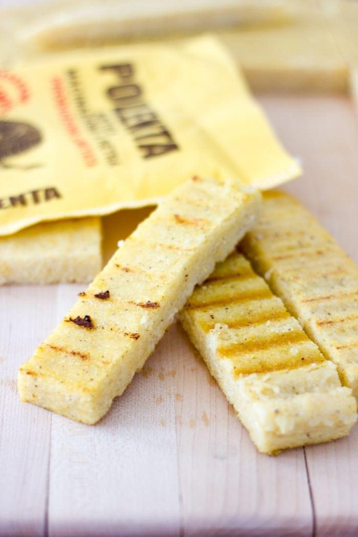 grilled polenta strips