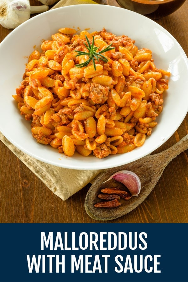 Malloreddus Pasta with Pork Shoulder Sauce (Sardinian Gnocchi with Meat Ragu)