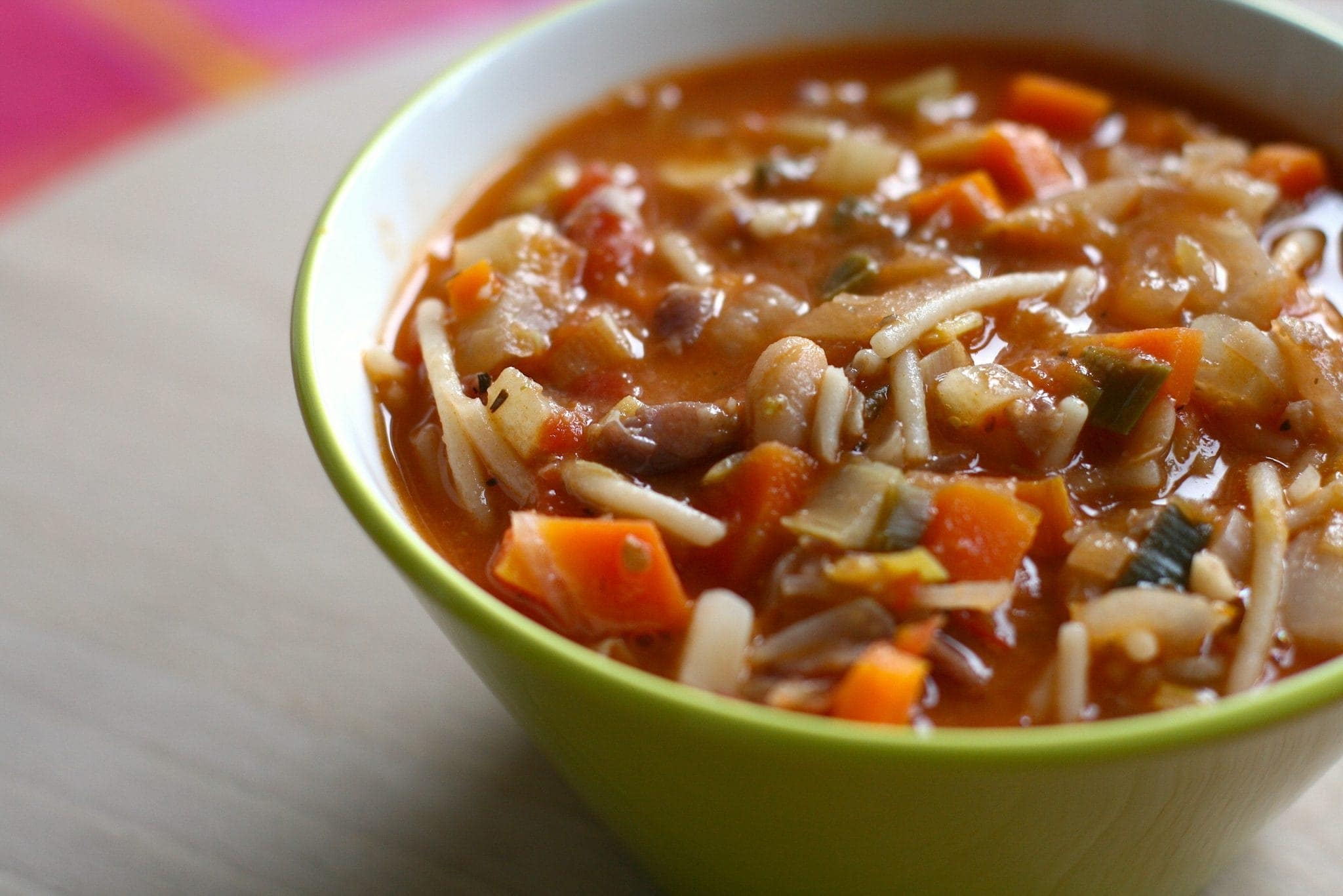 Pork minestrone soup recipe