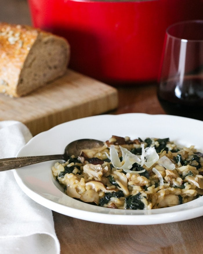Mushroom and Kale Risotto Recipe