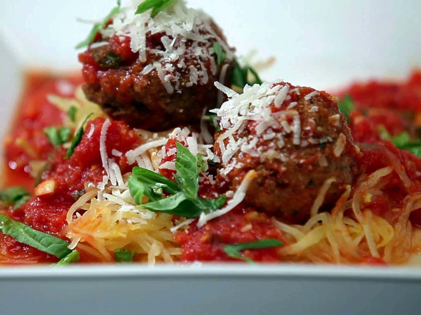 Italian meatballs and sauce is a classic dish.