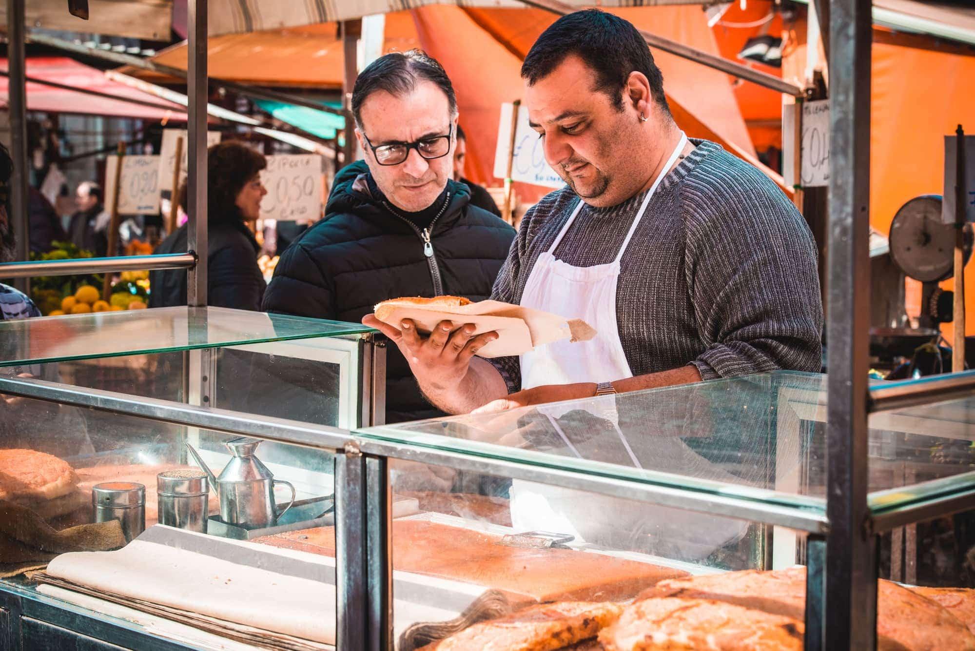Palermo Ballaro Street Food Market