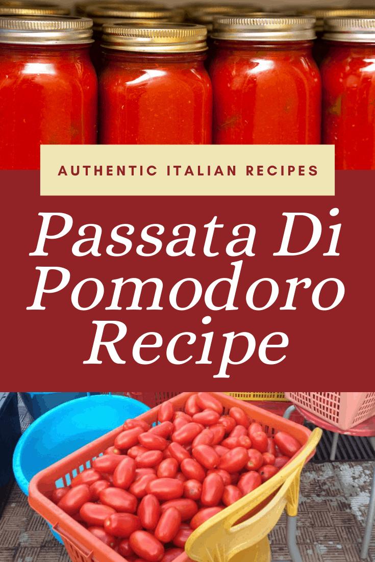 Tomato Passata Recipe [Passata di Pomodoro]