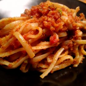 Pasta with tuna is a tasty low fat meal, which is easy and fast to cook.