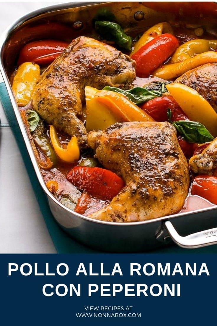 Roman Style Chicken Recipe | Pollo alla Romana con Peperoni