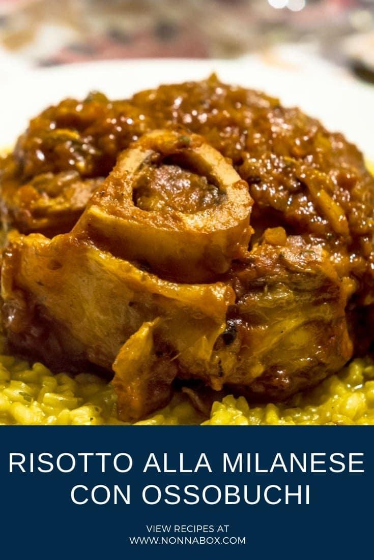 Risotto alla milanese con ossobuchi