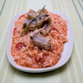 Risotto with eel might sound like a strange recipe, but it's worth trying.