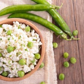 Risotto with English Peas