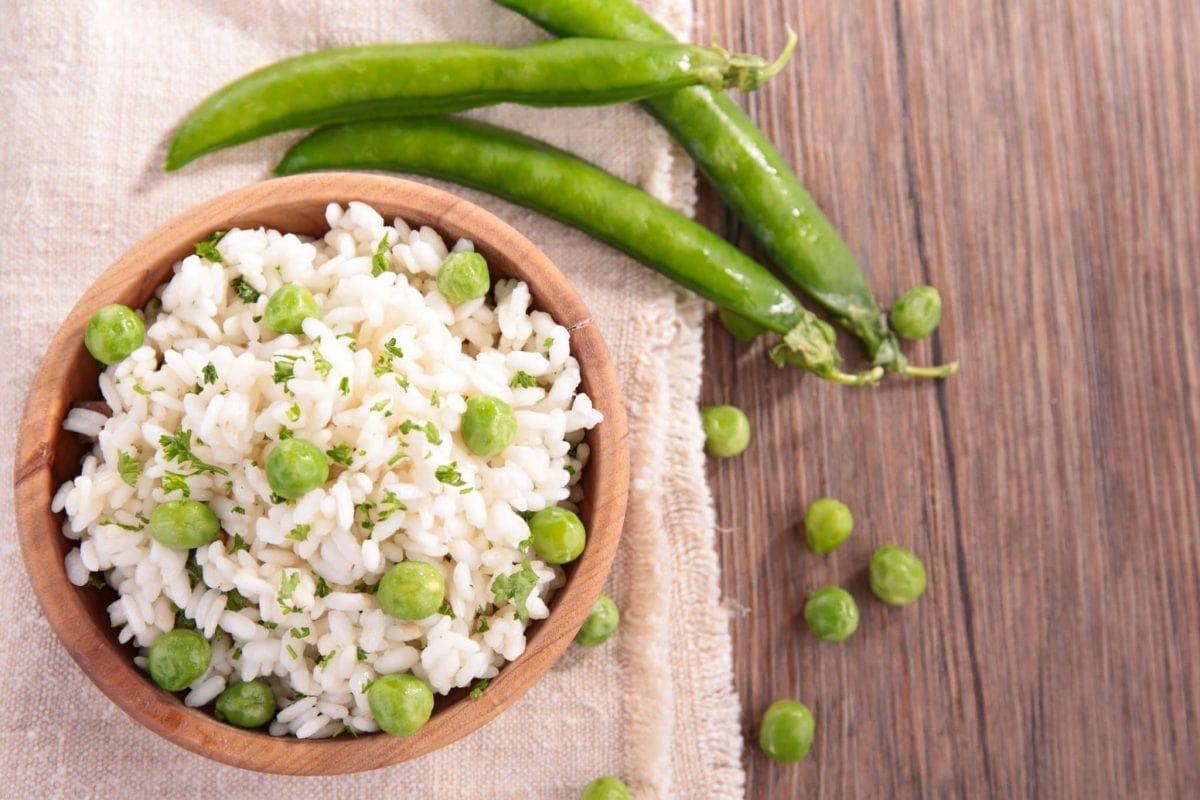 risotto with english peas recipe