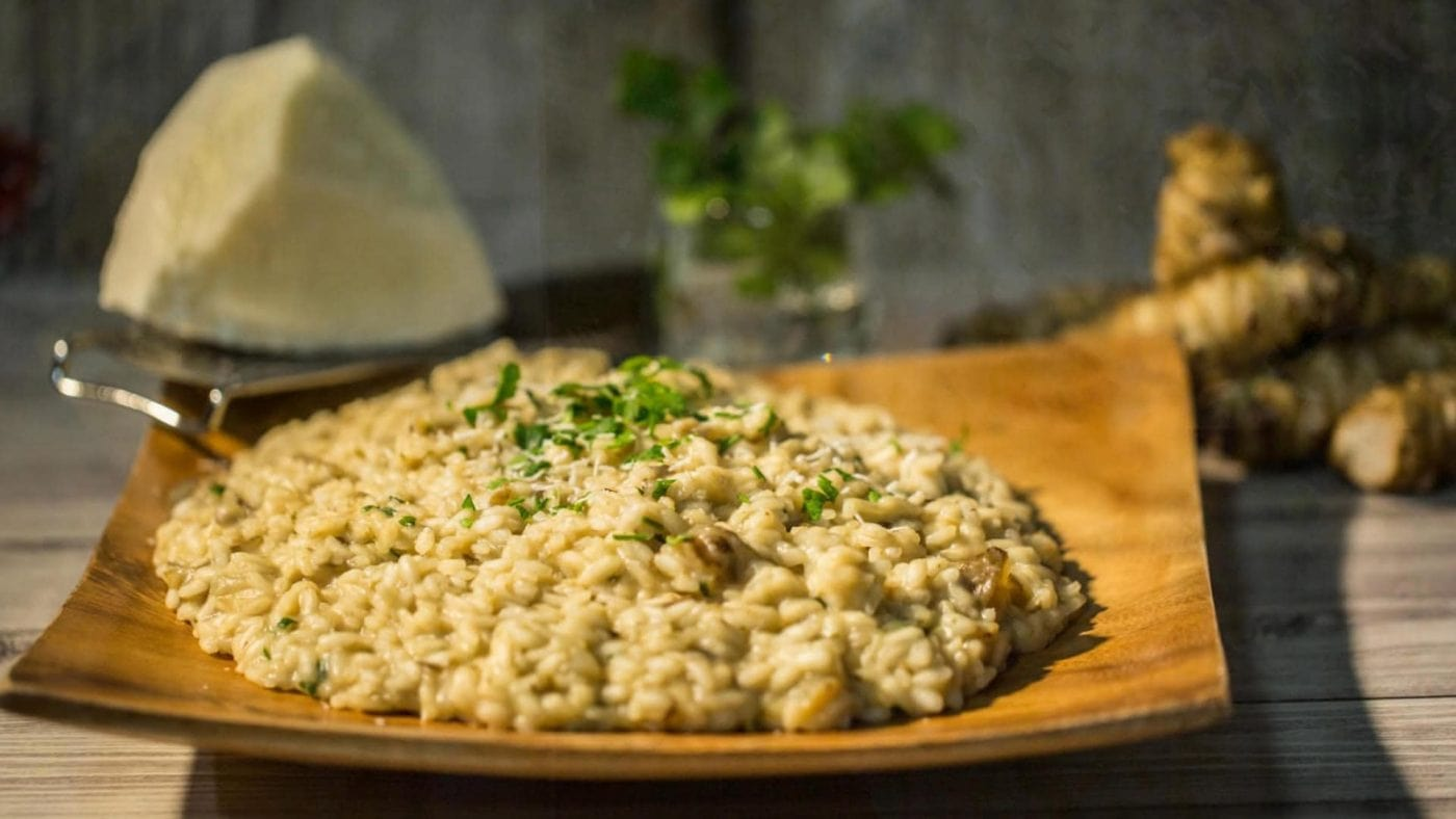 Risotto with Jerusalem artichokes