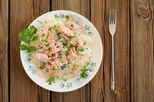 Risotto with Salmon recipe