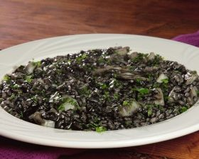 Risotto with cuttlefish ink