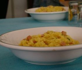 Risotto with ham