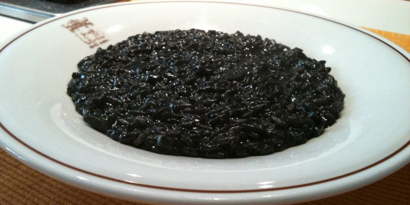 Risotto with squid ink